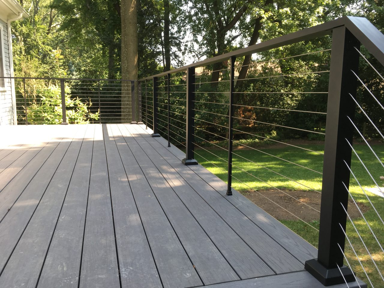 Aluminum Porch Hand Railing Installation Boston
